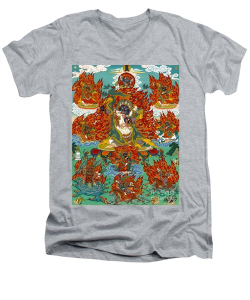 Maning Mahakala With Retinue Men's V-Neck T-Shirt
