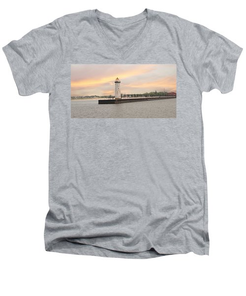 Manistee North Pierhead Lighthouse Men's V-Neck T-Shirt