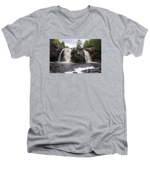 Men's V-Neck T-Shirt featuring the photograph Manitou by Sandra Updyke