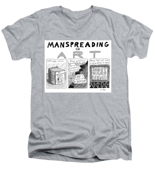 Manspreading In Art Men's V-Neck T-Shirt