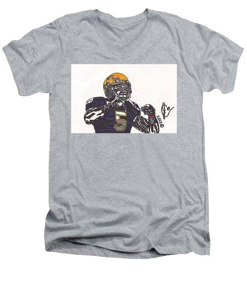 Manti Te'o 1 Men's V-Neck T-Shirt by Jeremiah Colley