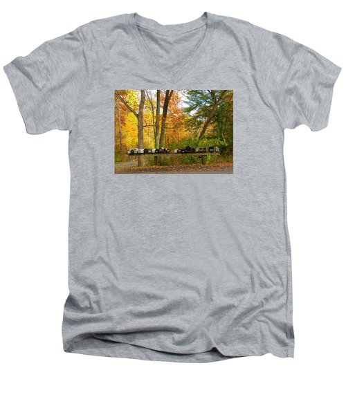 Many Shapes And Sizes Men's V-Neck T-Shirt by Jeanette Oberholtzer