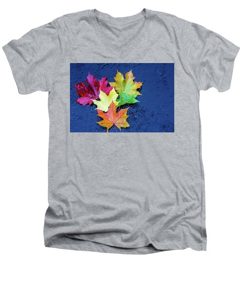 Maple Leaves Men's V-Neck T-Shirt