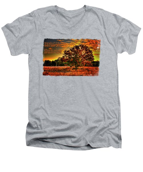 Maple Tree On An Illinois Priaire Early Autumn Men's V-Neck T-Shirt