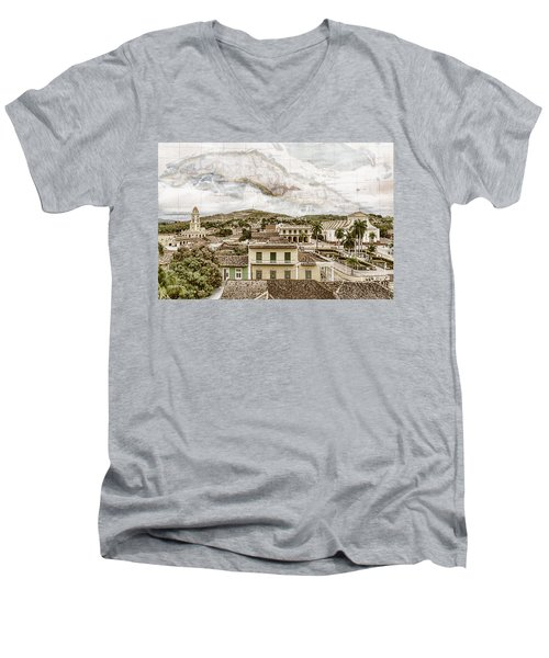 Mapping Trinidad Men's V-Neck T-Shirt