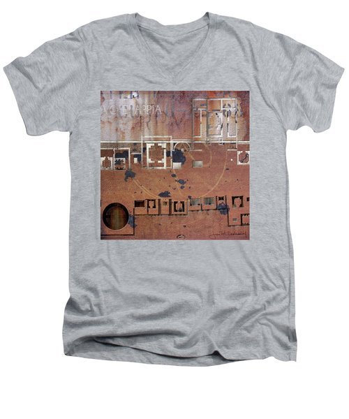 Maps #19 Men's V-Neck T-Shirt by Joan Ladendorf