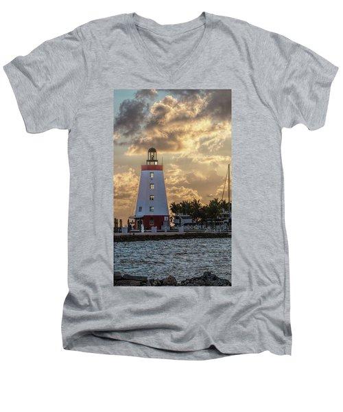 Marathon Light House Men's V-Neck T-Shirt