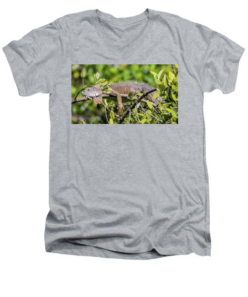 Marathon Lizzard Men's V-Neck T-Shirt
