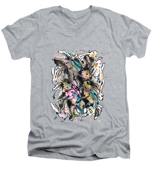 March Hares Men's V-Neck T-Shirt