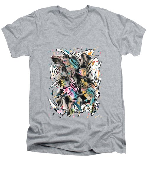 March Hares Men's V-Neck T-Shirt