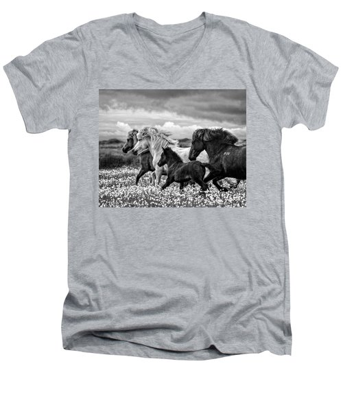March Of The Mares Men's V-Neck T-Shirt