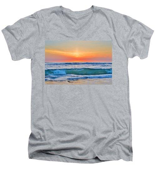 March Sunrise 3/6/17 Men's V-Neck T-Shirt