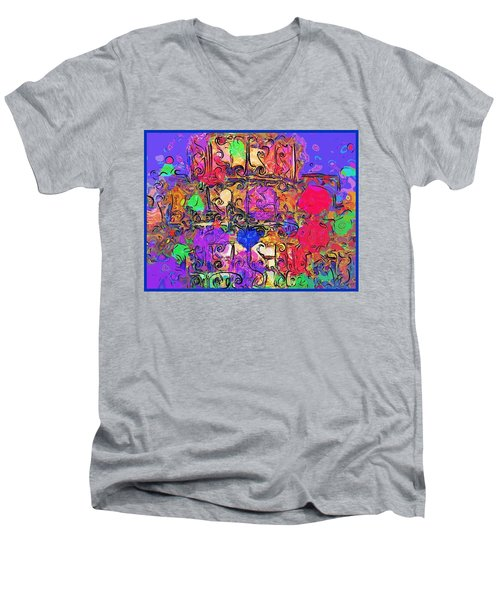 Mardi Gras Men's V-Neck T-Shirt