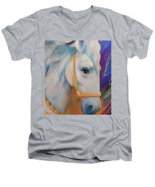 Mardi Gras Horse Men's V-Neck T-Shirt by Julianne Ososke