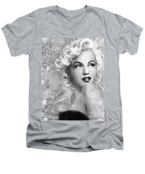 Marilyn Danella Ice Bw Men's V-Neck T-Shirt