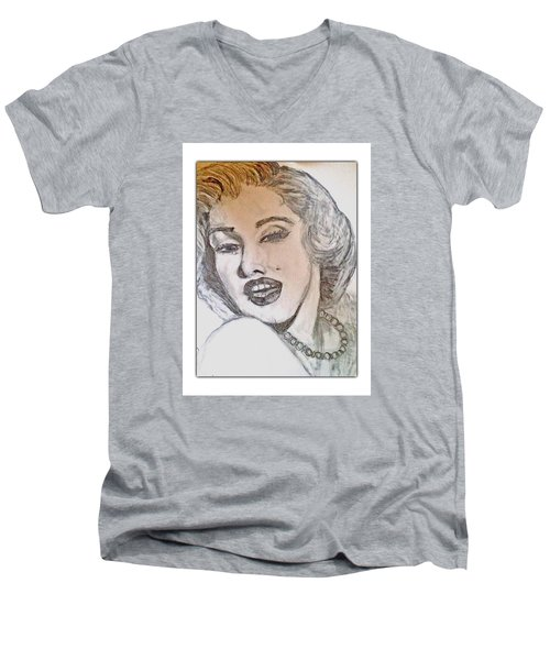Marilyn Monroe Men's V-Neck T-Shirt