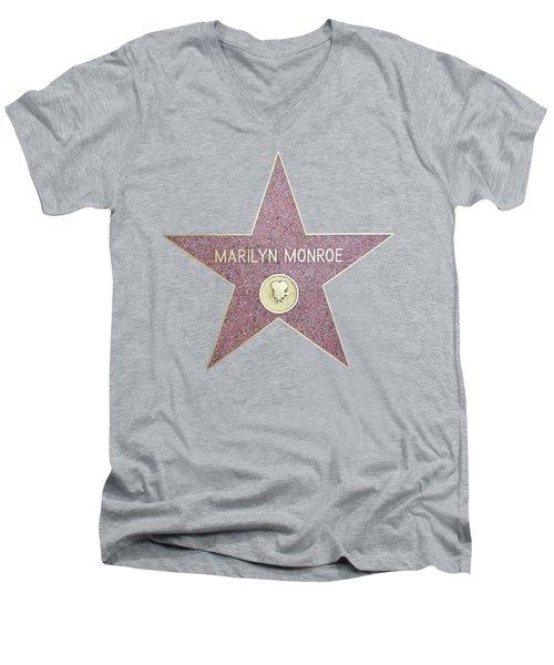 Marilyn Monroe Star From Walk Of Fame Men's V-Neck T-Shirt