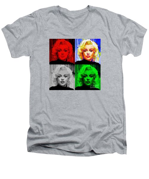 Marilyn Monroe - Quad. Pop Art Men's V-Neck T-Shirt