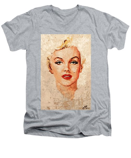 Marilyn Seductive Mix Men's V-Neck T-Shirt
