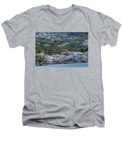 Marina Grande, Isle Of Capri Men's V-Neck T-Shirt