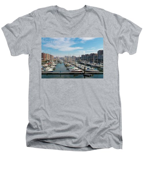 Marina In The Netherlands Men's V-Neck T-Shirt by Hans Engbers