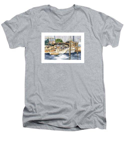Marina Matrix Men's V-Neck T-Shirt