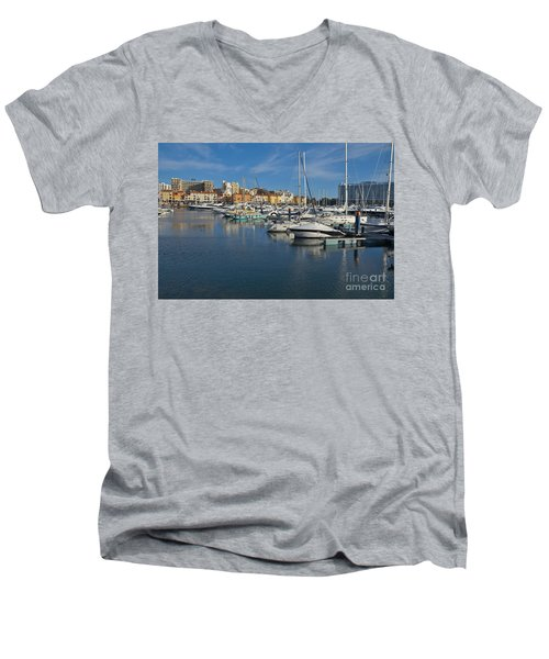 Marina Of Vilamoura At Afternoon Men's V-Neck T-Shirt