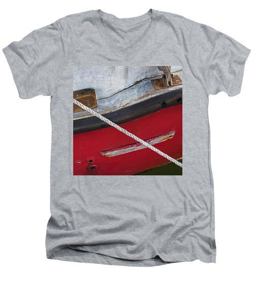 Men's V-Neck T-Shirt featuring the photograph Marine Abstract by Charles Harden