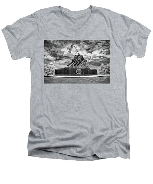 Marine Corps War Memorial Men's V-Neck T-Shirt
