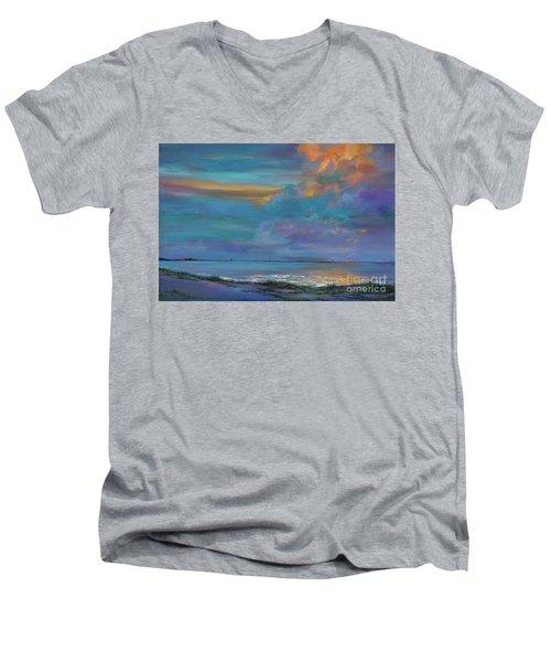 Mariners Beacon Men's V-Neck T-Shirt by AnnaJo Vahle
