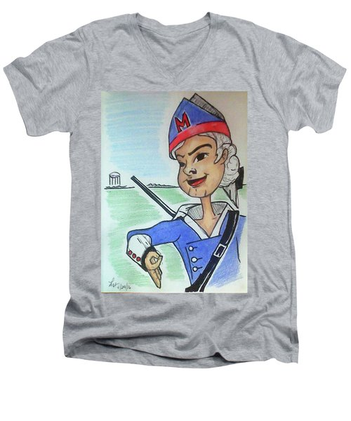 Marion Jr Men's V-Neck T-Shirt by Loretta Nash