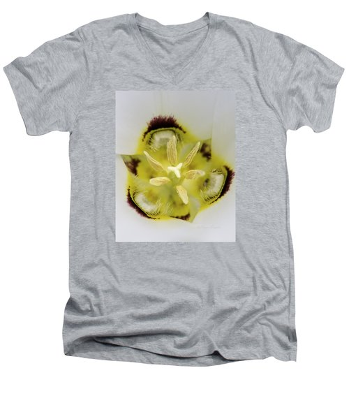 Mariposa Lily 3 Men's V-Neck T-Shirt