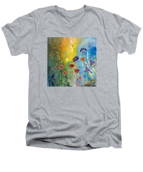 Mariposa Men's V-Neck T-Shirt by Robin Maria Pedrero