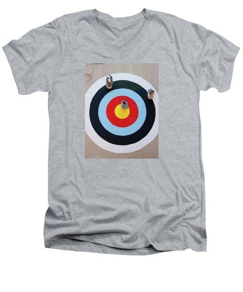 Mark Jenkins Target Mural Men's V-Neck T-Shirt by Jean Haynes