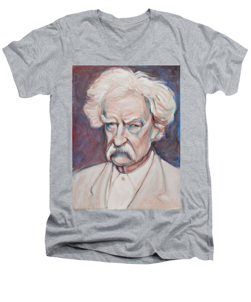 Mark Twain Men's V-Neck T-Shirt