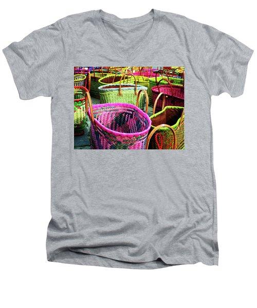 Market Baskets - Libourne Men's V-Neck T-Shirt