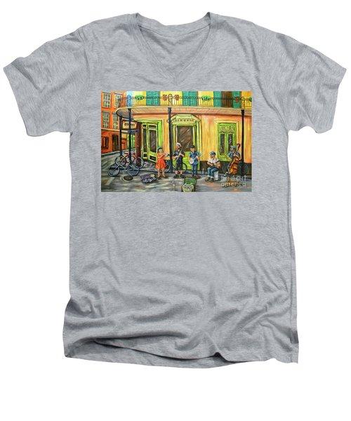 Market Musicians Men's V-Neck T-Shirt
