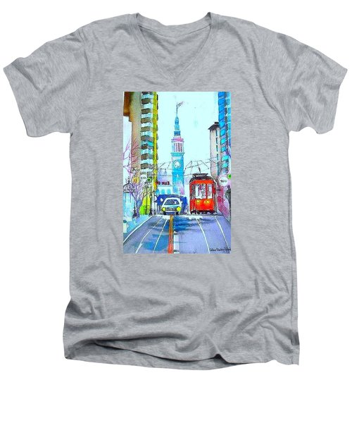 Market Street Men's V-Neck T-Shirt