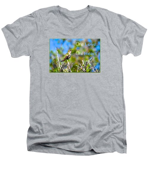Men's V-Neck T-Shirt featuring the photograph Marley Love  by David Norman