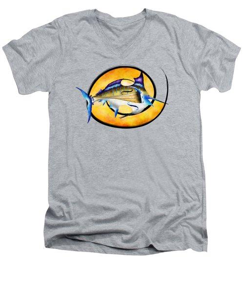 Marlinissos V1 - Violinfish Without Back Men's V-Neck T-Shirt