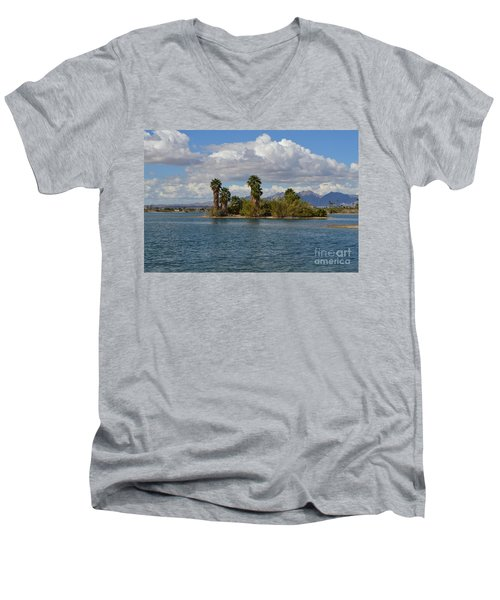 Marooned Palms Men's V-Neck T-Shirt