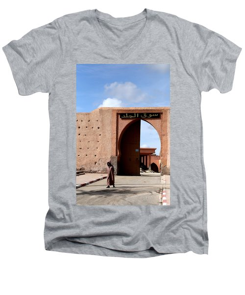 Men's V-Neck T-Shirt featuring the photograph Marrakech 1 by Andrew Fare