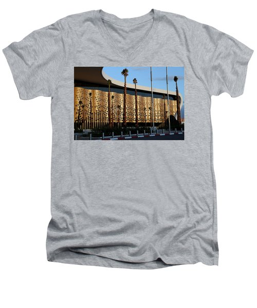 Men's V-Neck T-Shirt featuring the photograph Marrakech Airport 1 by Andrew Fare