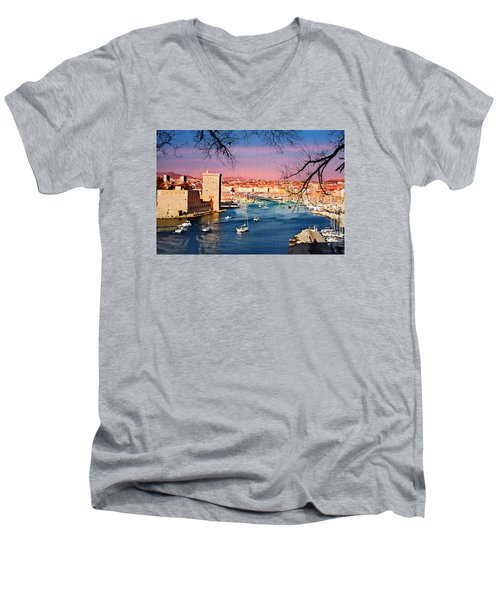 Marseille Men's V-Neck T-Shirt