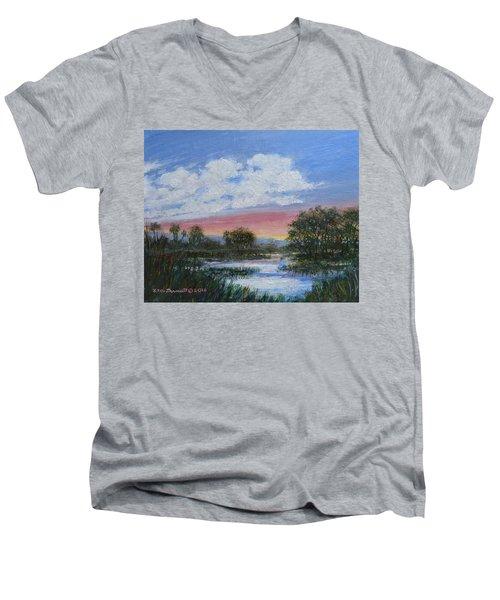 Marsh Reflections Men's V-Neck T-Shirt by Kathleen McDermott