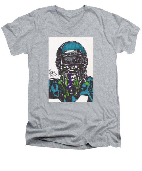 Marshawn Lynch 1 Men's V-Neck T-Shirt by Jeremiah Colley