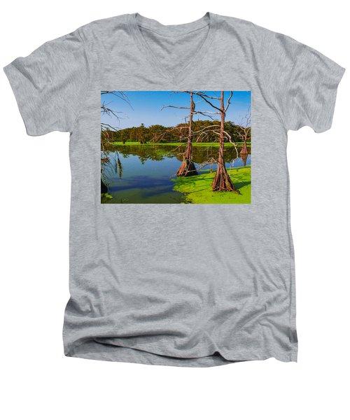 Marshes Of Wallisville Men's V-Neck T-Shirt