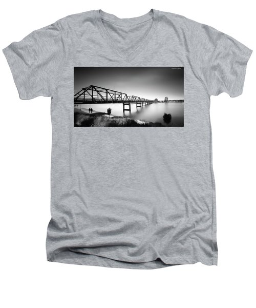 Martin Bridge 6666 Men's V-Neck T-Shirt by Kevin Chippindall