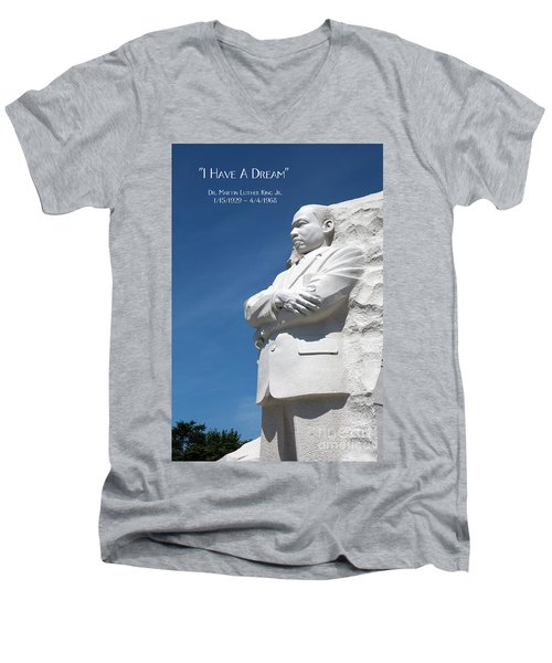 Martin Luther King Jr. Monument Men's V-Neck T-Shirt