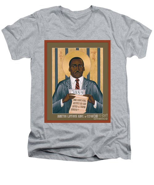 Martin Luther King Of Georgia  - Rlmlk Men's V-Neck T-Shirt